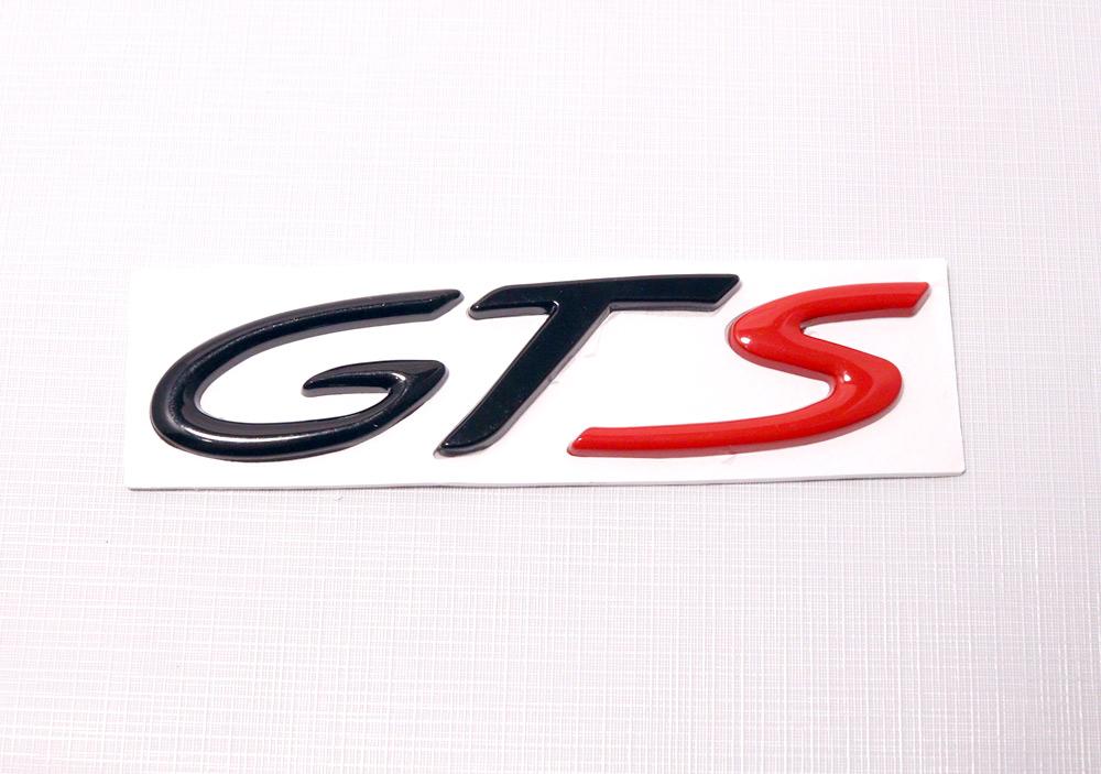 hot black red gts emblem badge for porsche sale